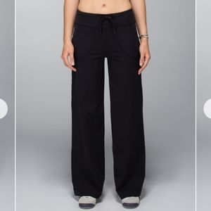 Lululemon Black Still Pants Wide Leg Yoga Leggings